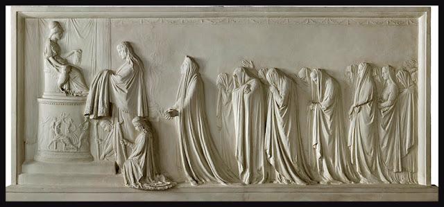 Hécuba y las mujeres troyanas ofrecen el peplos a Palas