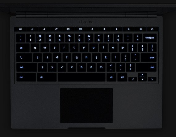 Google chromebook pixel Backlight keyboard with Amazing Glass Touchpad