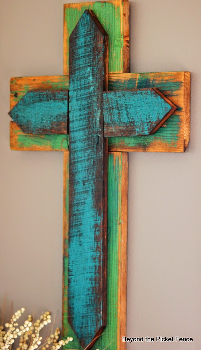 diy wooden cross designs, Scrap Wood Cross Beyond The Picket Fence Bloglovin