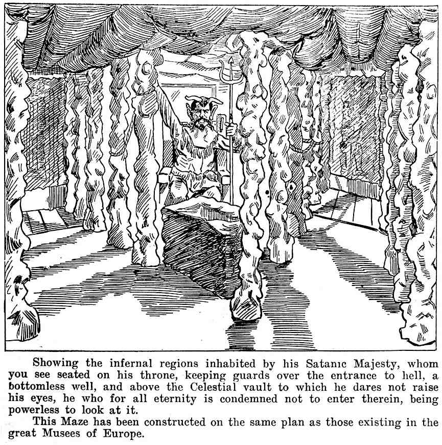 a 1902 Toronto display of Satan in Hell, a carnival maze at the Canadian National Exhibition