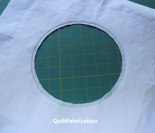 cut out circle with seam allowance