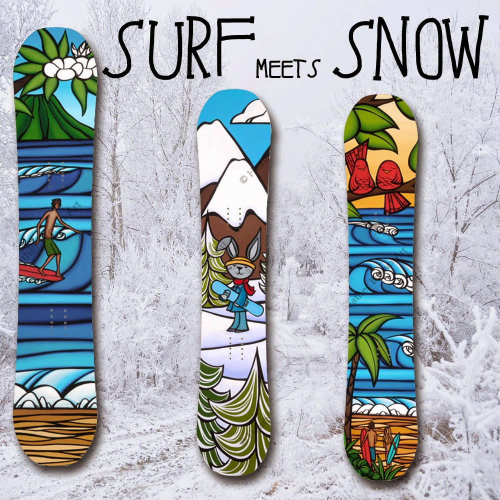 snowboard art heather brown