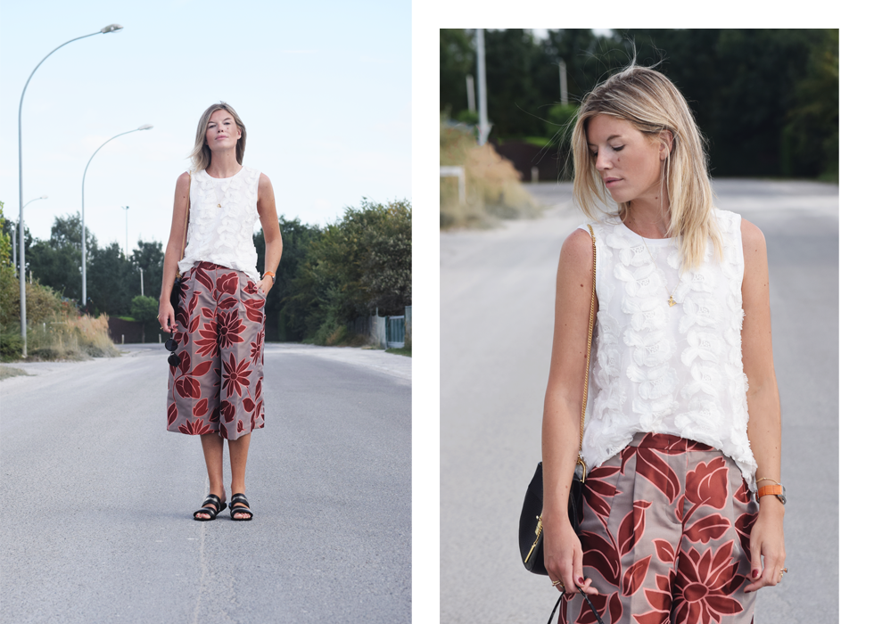 H&M, Outfit of the day, Monica Vinader, Chloé, Maliparmi, TopShop, Baume et Mercier, ootd, style, fashion, blogger, summer, culottes