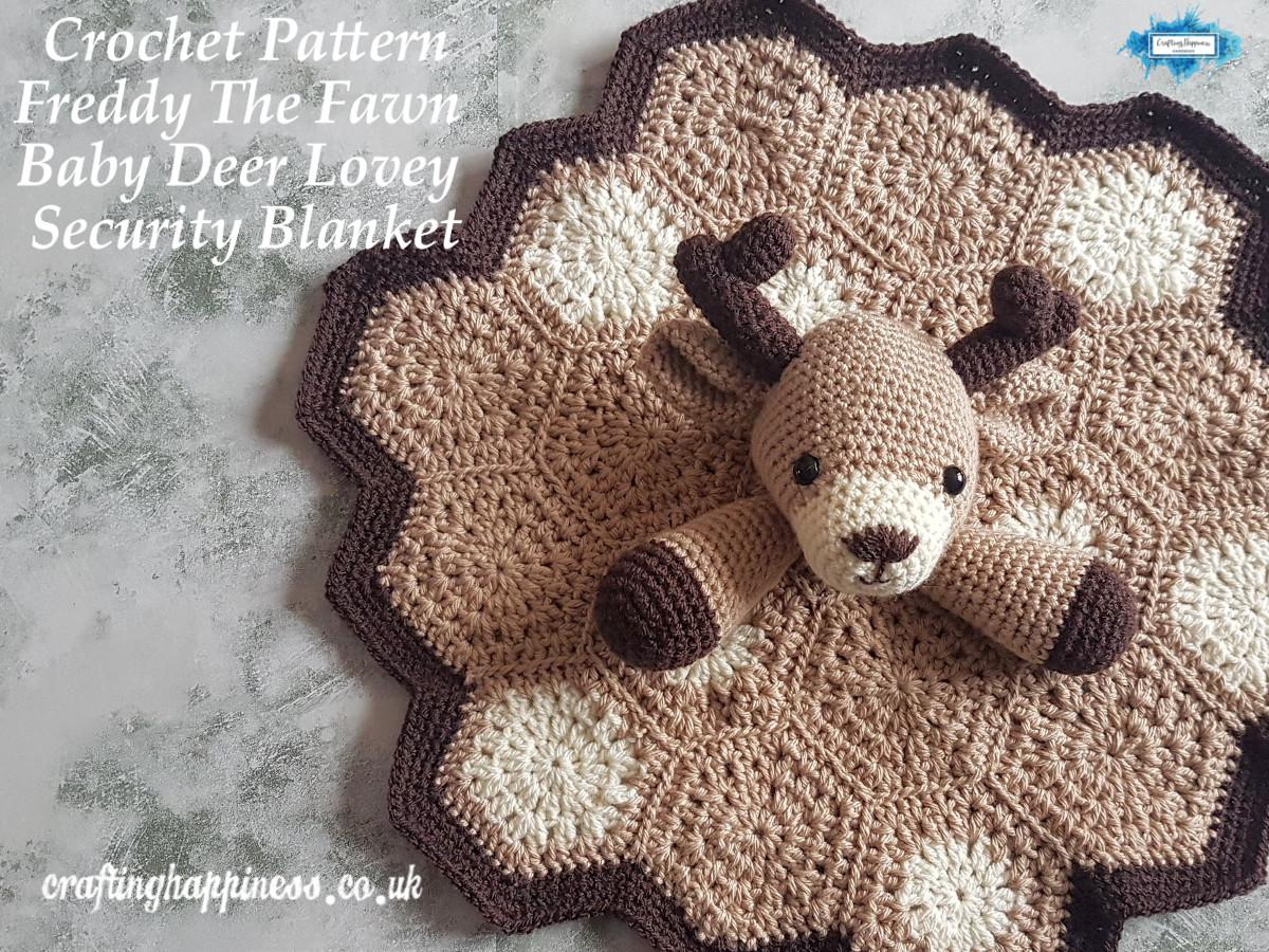 Crochet Pattern Freddy The Fawn Baby Deer Lovey Security Blanket