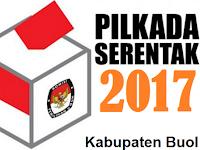 Hasil Penetapan Nomor Urut paslon Pilkada Boul 2017 oleh KPU