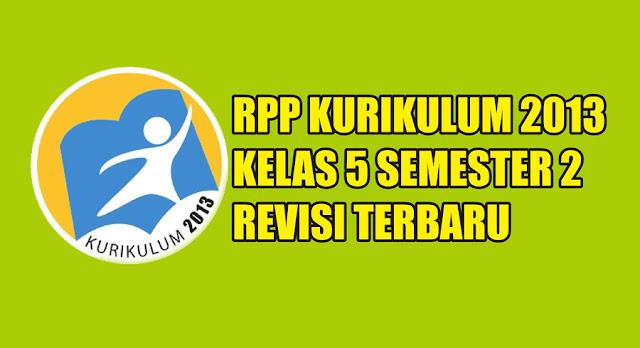 rpp kurikulum 2013 sd kelas 5 semester 2 pdf tahun 2019 2020