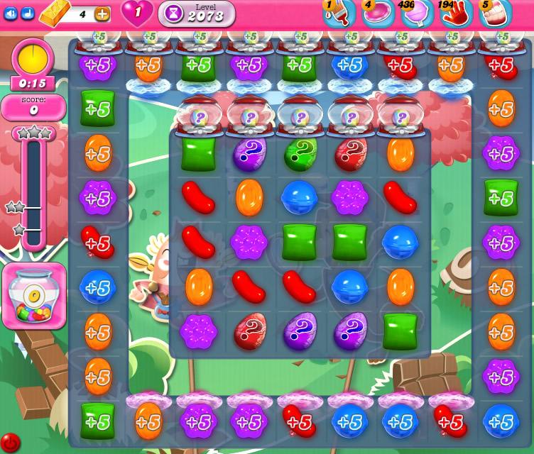 Candy Crush Saga level 2073