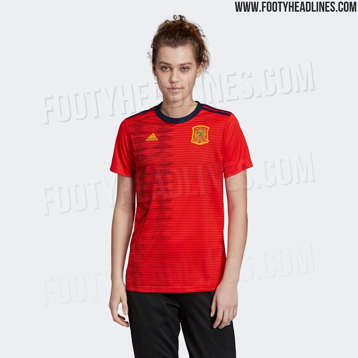 305aeb91272 Adidas Spain 2019 Women's World Cup Home Kit Released - Footy Headlines