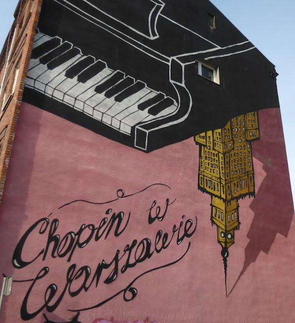ul. Górnośląska, Warsaw, Warszawa, Warschau, Chopin 200. Geburtstag, Streetart, Wandbemalung