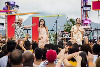 A banda Melim empolgou os fãs da plateia do 'SóTocaTop Verão'