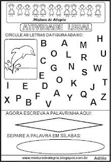 Atividade legal de alfabetização G