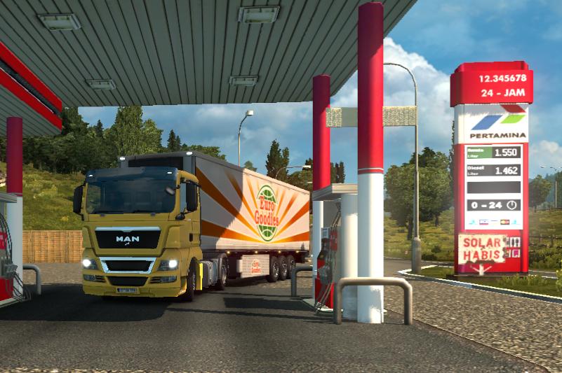 Mod SPBU Pertamina Indonesia ETS2 - pom bensin