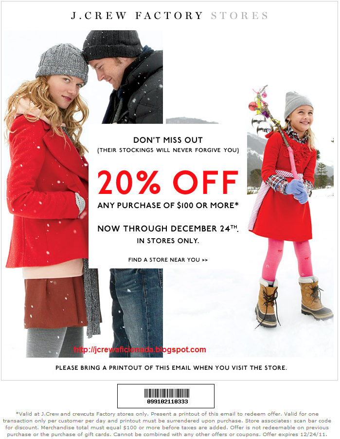 image regarding J Crew Factory Printable Coupons known as J team manufacturing facility keep printable coupon codes - Discount coupons for wheel