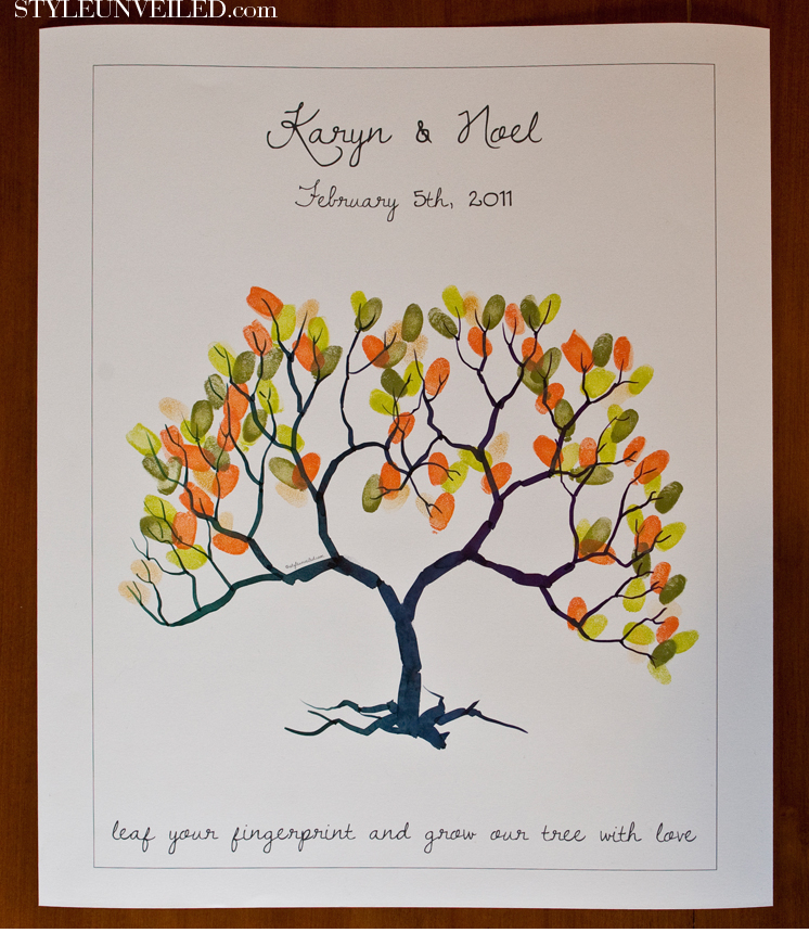 Thumbprint quotes quotesgram for Wedding tree guest book free template