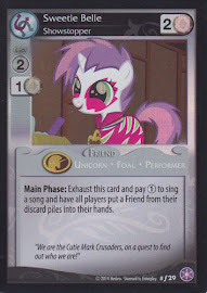 MLP Sweetie Belle, Showstopper The Crystal Games CCG Card