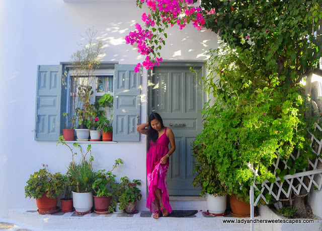 a local home in Mykonos