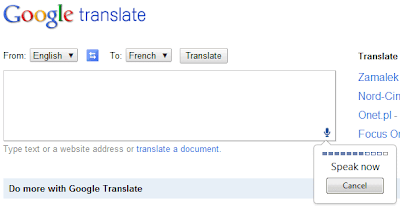 Google Translate voice commands