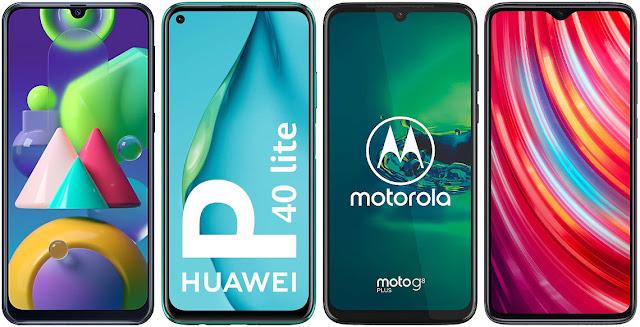 Samsung Galaxy M21 vs Huawei P40 Lite vs Motorola Moto G8 Plus vs Xiaomi Redmi Note 8 Pro