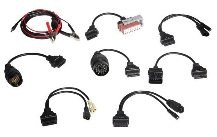 Auto diagnostic scanner: OBD 2 Full Car Cables Set for