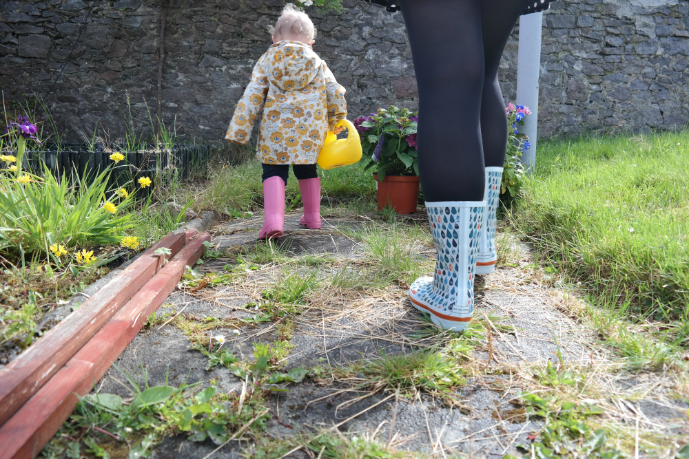 This Little Big Life: Weedy path and wellies