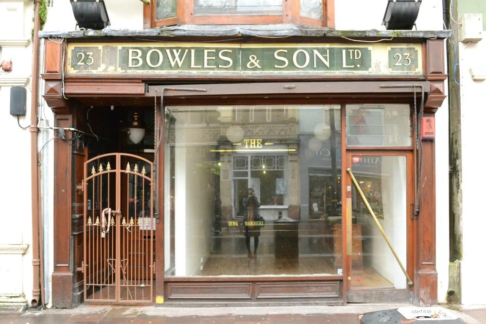 vintage shop front cardiff wales j bowles