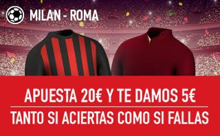sportium Promocion serie a Milan vs Roma 7 mayo