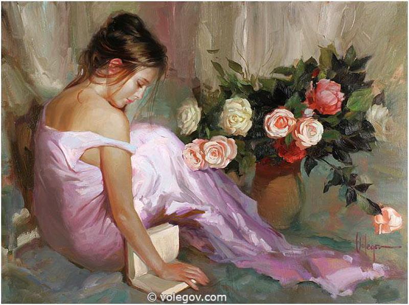 Mujer Leyendo El Libro En Blanco En El Jardín: Imágenes Arte Pinturas: Oleos Famosos De Mujeres Leyendo