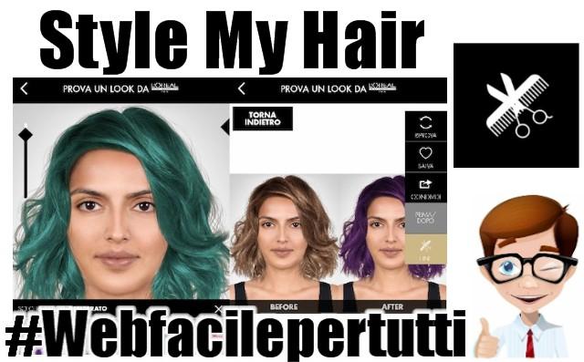 Cambiare colore dei capelli app