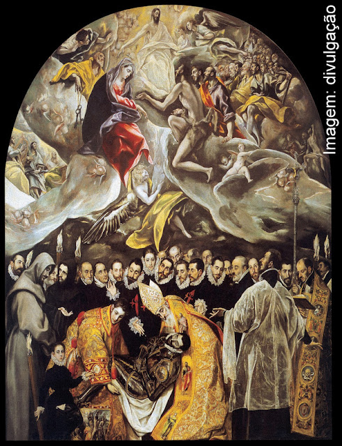 "El Greco - ""O Enterro do Senhor de Orgaz"", na Igreja de San Tomé, em Toledo"