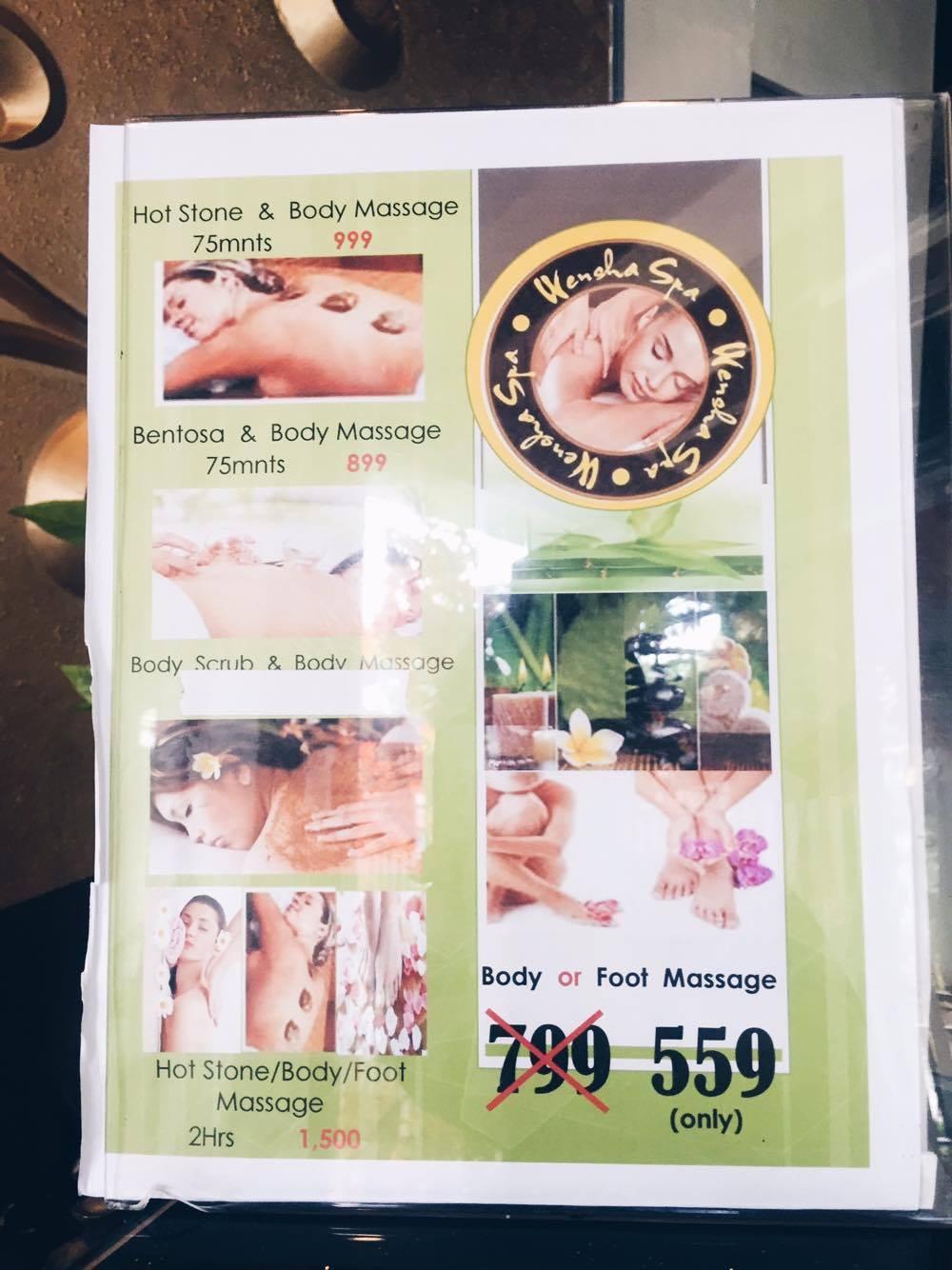 Wensha Spa Imus Price