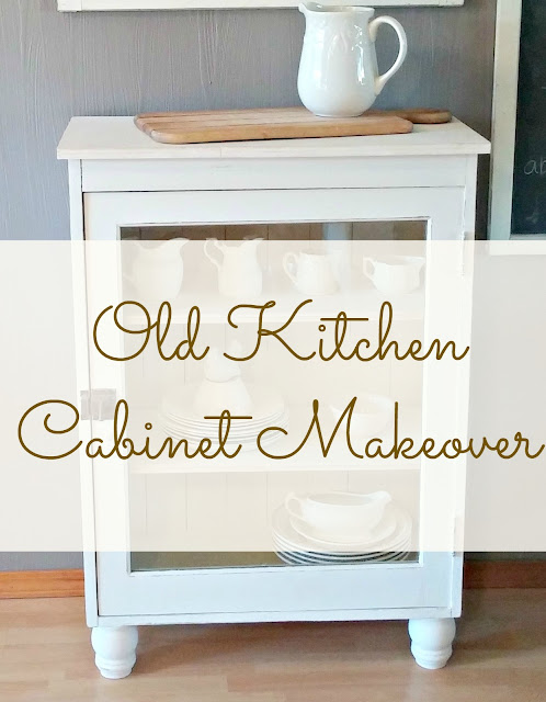 how to update an old kitchen cabinet into a china cabinet