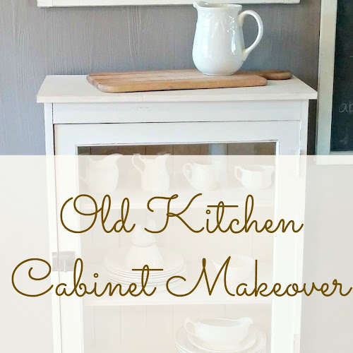 Before and After - Old Kitchen Cabinet Makeover