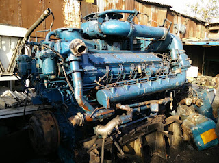 MTU 12V538, used, marine engine, marine propulsion engine, gearbox, transmission