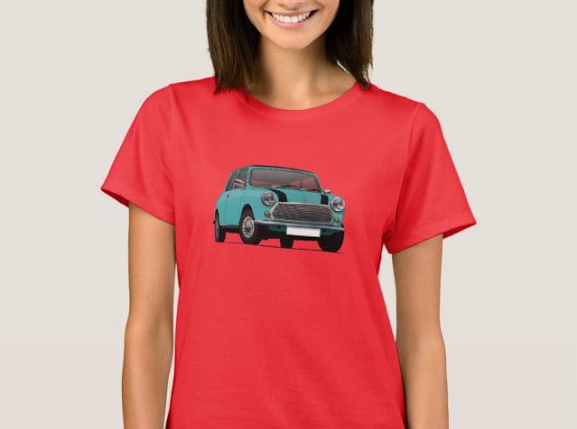 Turquoise classic Mini Cooper T-shirt