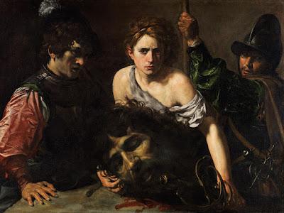 Valentin de Boulogne - David avec la tête de Goliath vers 1615-1616.
