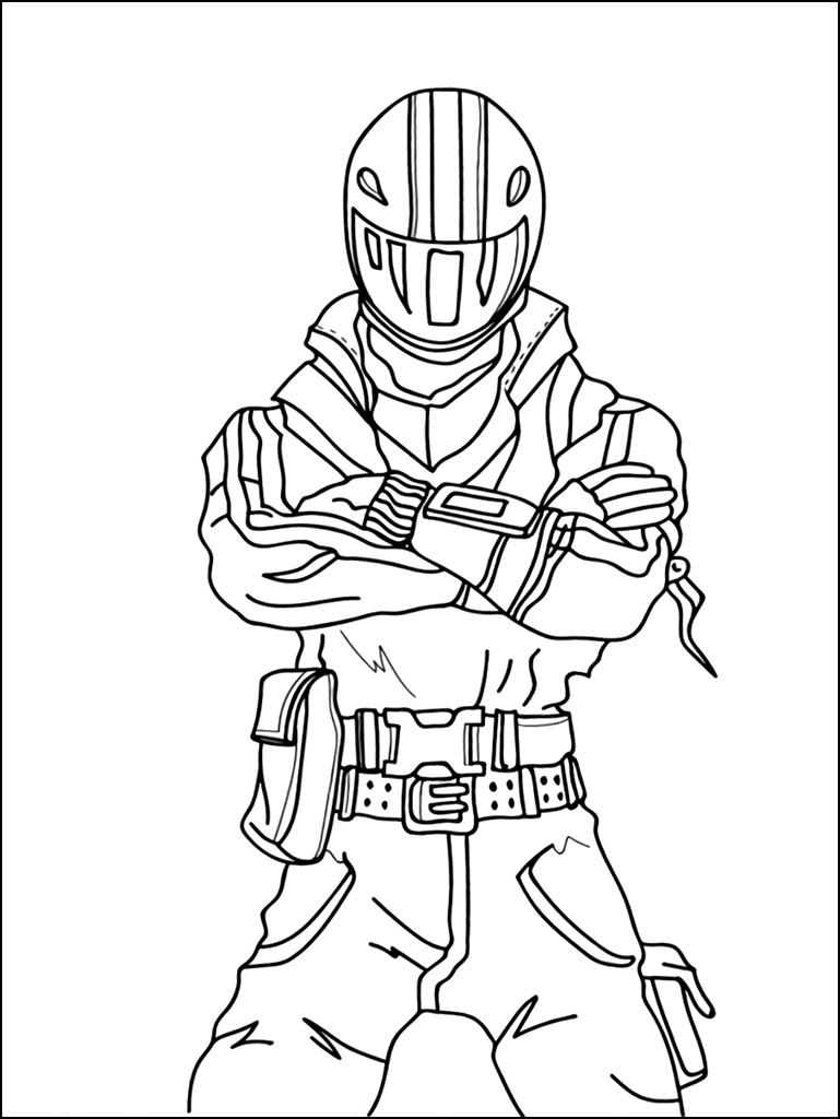 This is a picture of Gorgeous Fornite Coloring Pages