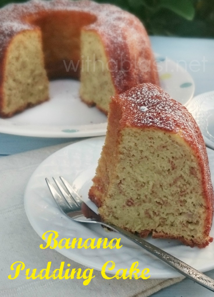 Mix and bake ! Easy as that and this, delicious, moist, Banana Pudding Cake is done - can be served cold or warm