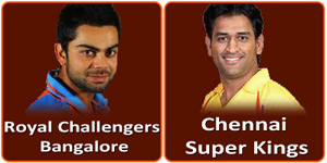 CSK vs RCB IPL match is on 13 April 2013.