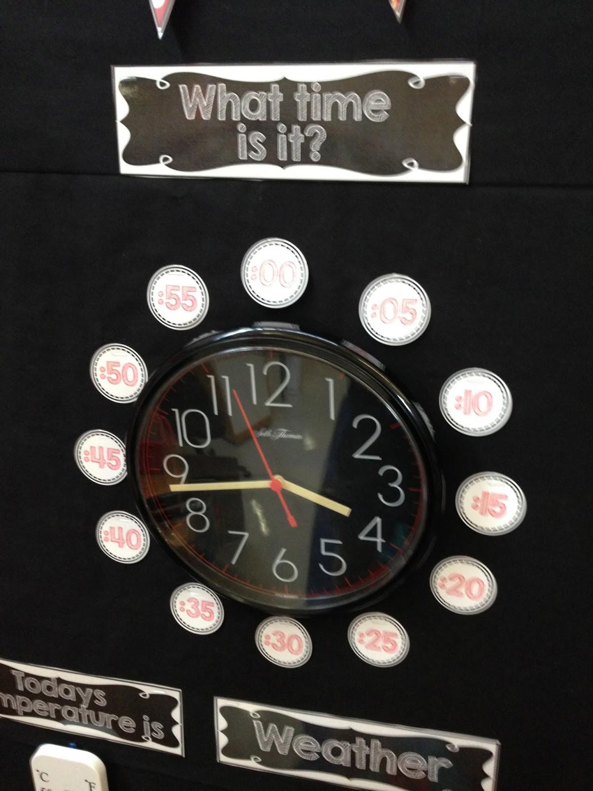 calendar wall, calendar notebooks, kindergarten math clock numbers, temperature
