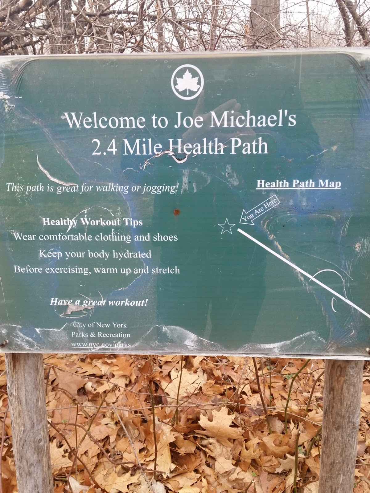 a sign along the path