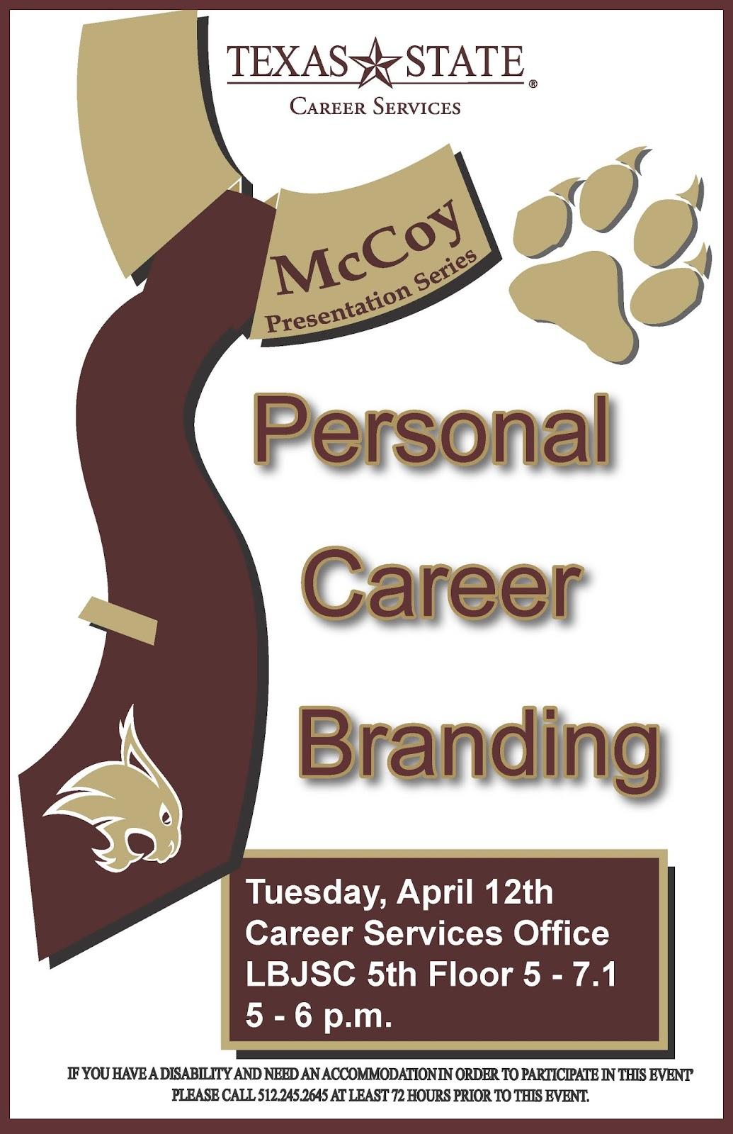mccoy college academic advising blog mccoy college presentation mccoy college presentation series personal career branding