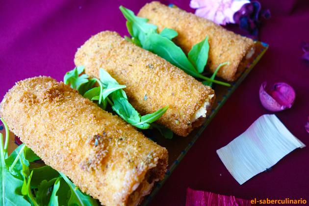 Flamenquines de pescado con pan de molde especial niños