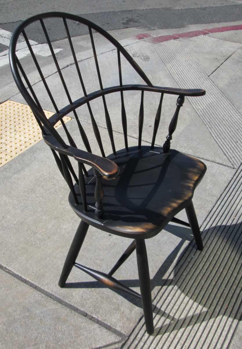 UHURU FURNITURE  COLLECTIBLES SOLD Black Windsor Chair  65