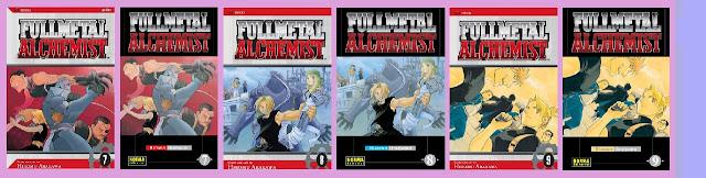 portadas fullmetal alchemist 7 a 9