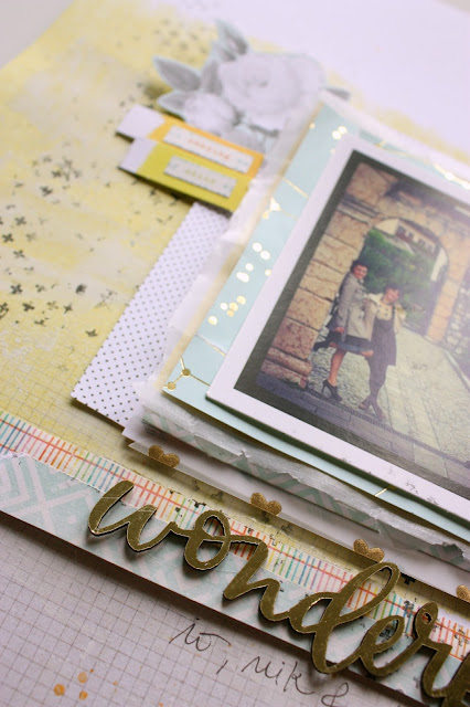 Wonderful - scrapbooking layout detail