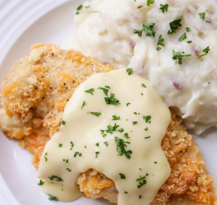 CRISPY BAKED CHICKEN #dinner #cheddar