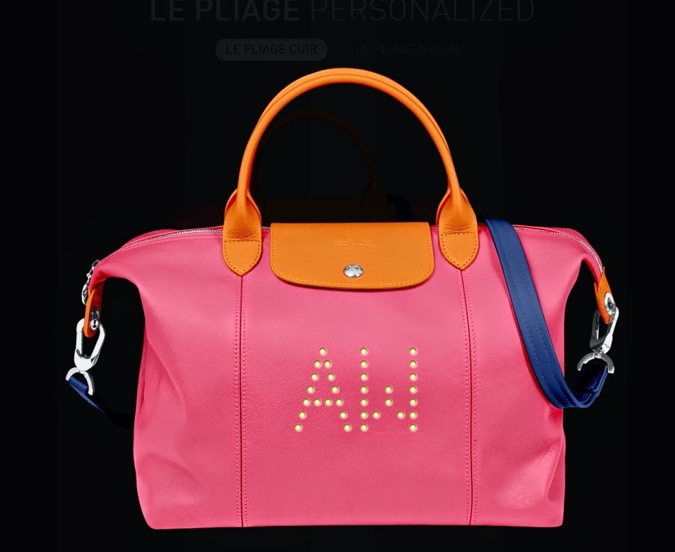 bagfetishperson: My new personalized Longchamp Le Pliage Cuir