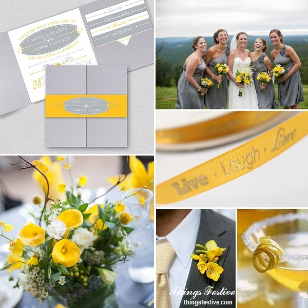 Contemporary Wedding Theme In Marigold Yellow & Platinum