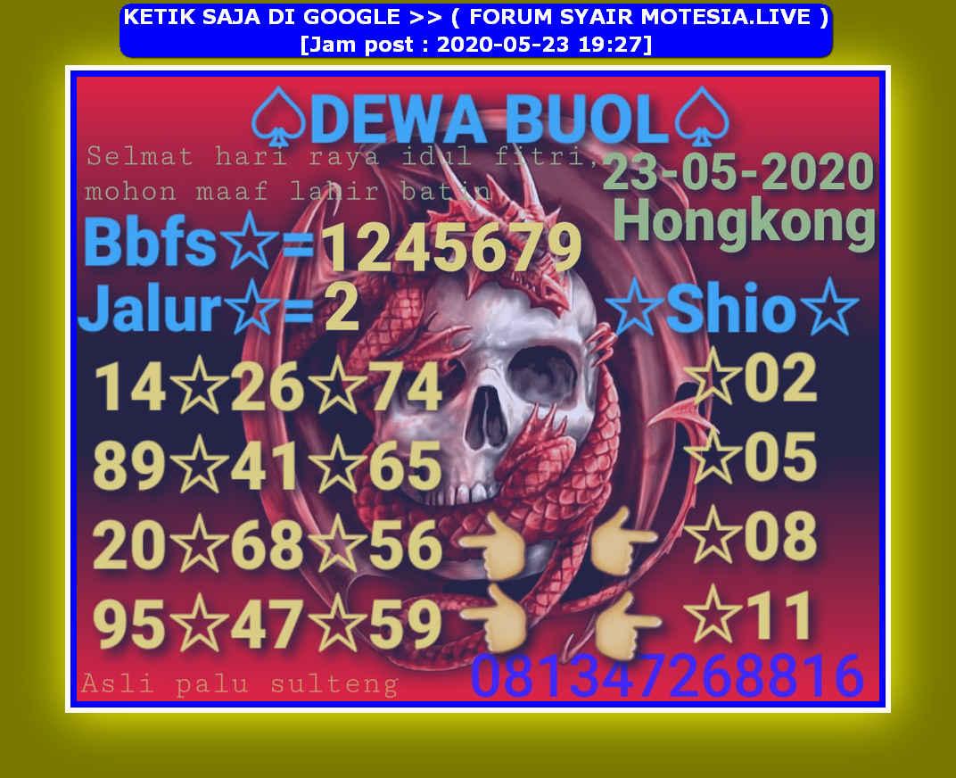 Kode syair Hongkong Sabtu 23 Mei 2020 37