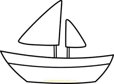 Mewarnai Gambar Kapal Laut - 14